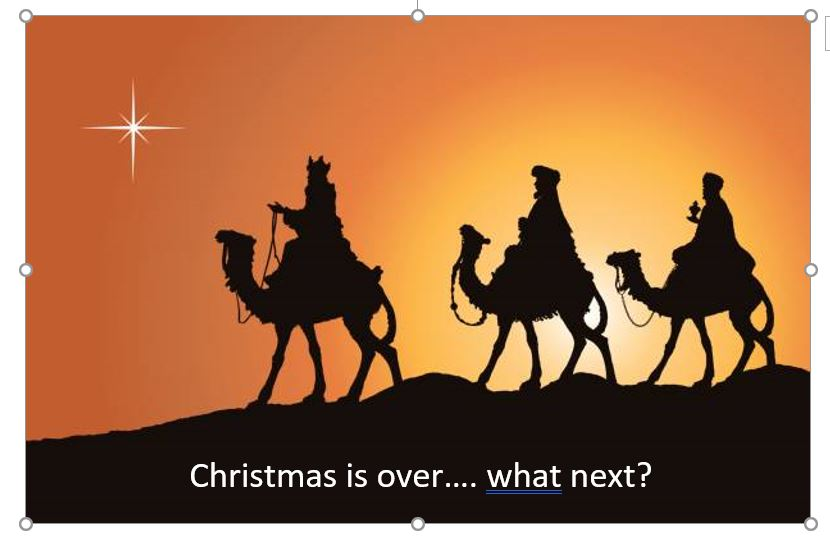 Christmas is over….. what next?